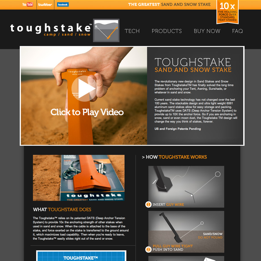 Toughstake Stakes :: Lights And Colors Web Design